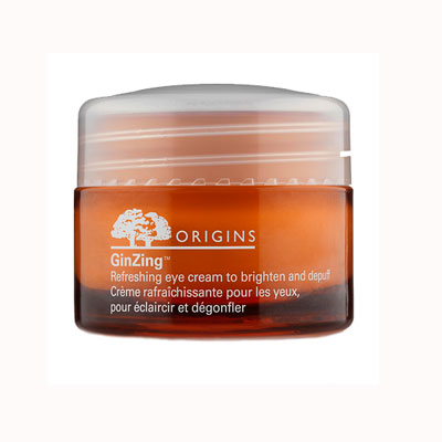 Orange pot of eye cream