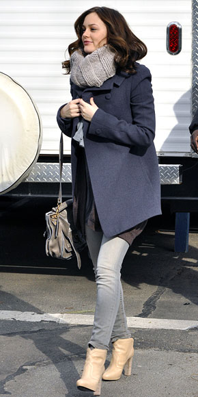 Leight Meester with Proenza Schouler bag and Pierre Hardy boots