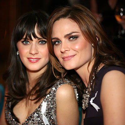 Zooey and Emily Deschanel - Image courtesy of InStyle
