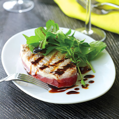 Seared Ahi with Watercress and Vincotto