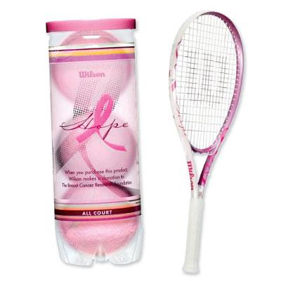 Wilson Hope Tennis Balls and Racquet