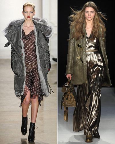 Fall 2011 Fashion - Parka Over a Long Dress - Altuzarra - Mulberry