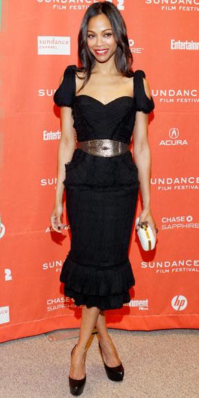 Zoe Saldana in Alexander McQueen