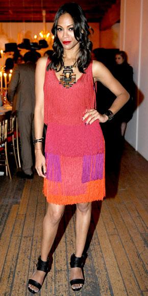 Zoe Saldana in Lanvin