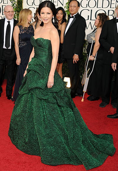 Golden Globes - Catherine Zeta-Jones - Monique Lhuillier