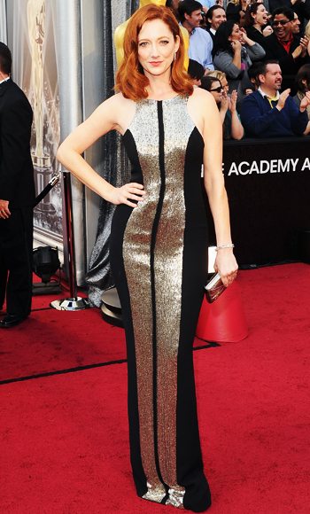 Judy Greer - Monique Lhuillier - Oscars 2012
