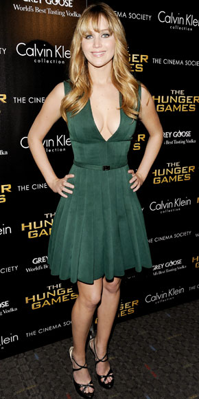 Jennifer Lawrence in Calvin Klein Collection