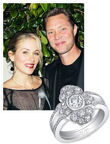 Christina Applegate Wedding Set // InStyle.com