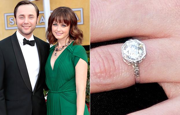 Alexis Bledel Engagement Ring // InStyle.com