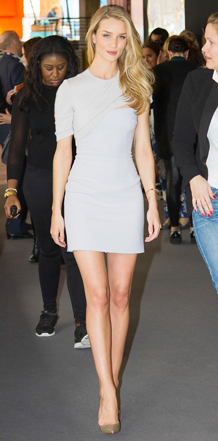 Rosie Huntington-Whiteley in Marios Schwab