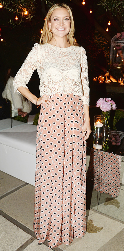 Kate Hudson in Candela and Etro