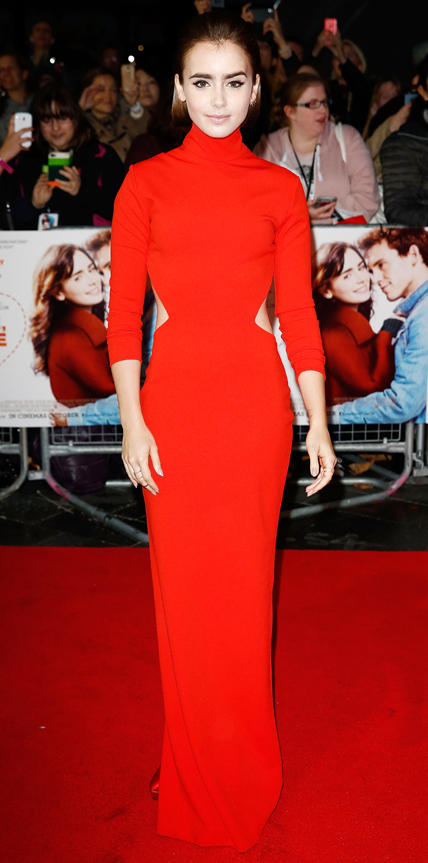 Lily Collins in Solace London