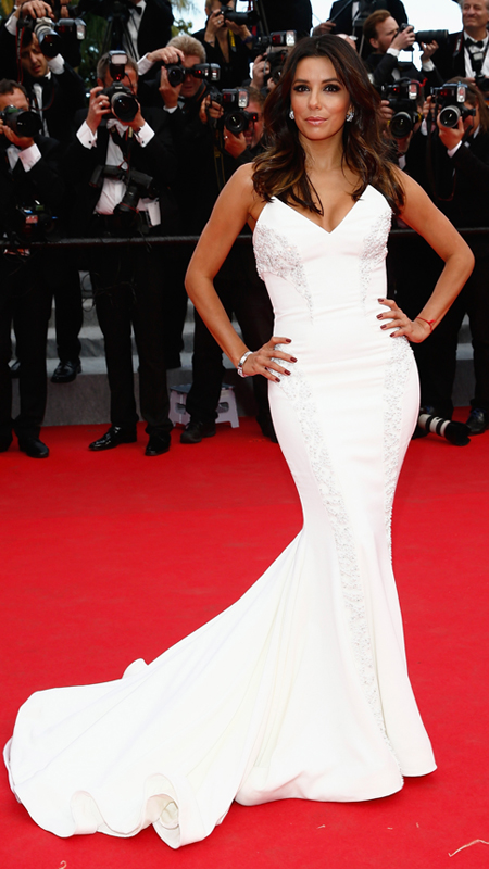 "Eva Longoria attends the ""Saint Laurent"" Premiere at the 67th Annual Cannes Film Festival"