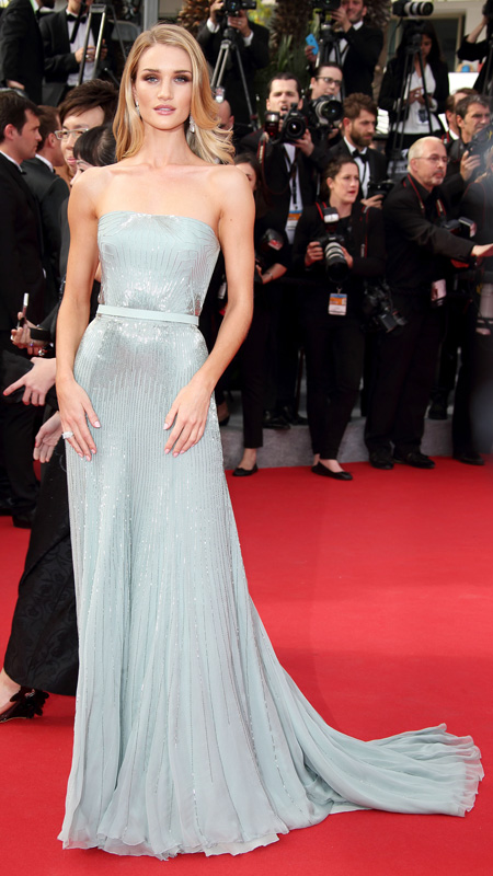"Rosie Huntington-Whiteley attends  ""The Search"" Premiere at the 67th Annual Cannes Film Festival"