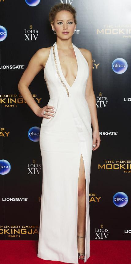 Jennifer Lawrence in Mugler