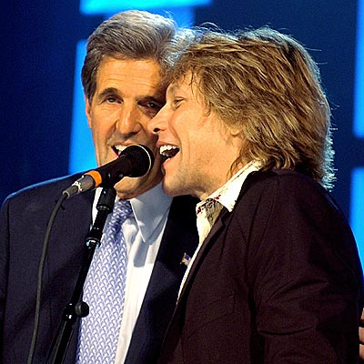 In 2004, Bon Jovi helped John Kerry all the way to 2nd Place in the Presidential contest!