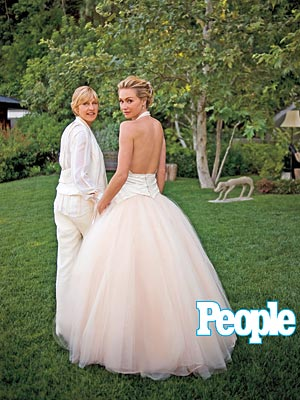 Ellen & Portia's Wedding Album| Celebrity Weddings, Ellen DeGeneres, Portia de Rossi