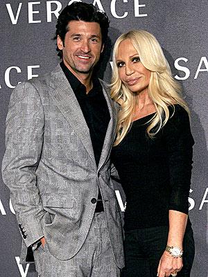 Donatella Versace and Patrick Dempsey