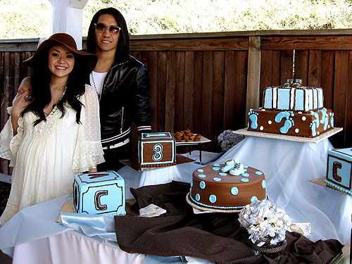 Brown And Baby Blue Shower Decorations Pertaining To Ba Teddy Bear Themes