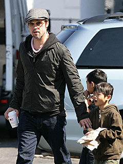 Brad: On Daddy Duty | Brad Pitt
