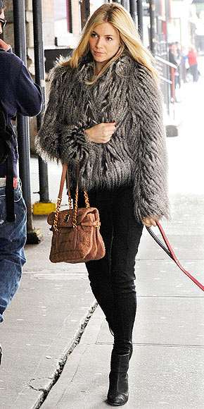 FUZZY COATS photo | Sienna Miller