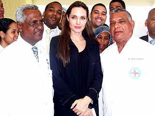 Angelina Jolie Visits Haiti Earthquake Survivors