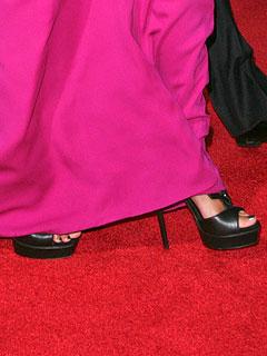 Black Gucci platform sandals