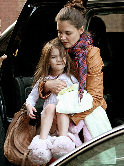 Pigs and a Blanket photo | Katie Holmes, Suri Cruise
