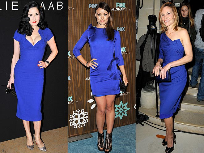 ROYAL BLUE SHEATHS photo | Dita Von Teese, Hilary Swank, Olivia Wilde
