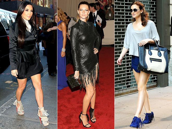 FRINGED SHOES photo | Gisele Bundchen, Kim Kardashian, Leighton Meester