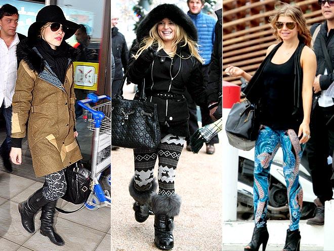 PATTERNED LEGGINGS photo   Fergie, Jessica Simpson, Rachel McAdams