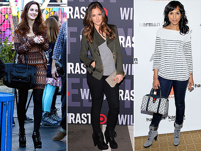 HEELED HIKING BOOTS photo | Kerry Washington, Leighton Meester, Minka Kelly