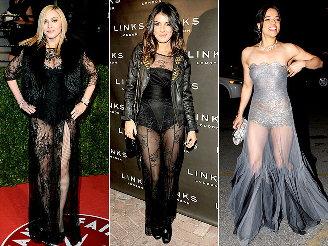 SHEER GOWNS photo | Madonna, Michelle Rodriguez, Shenae Grimes