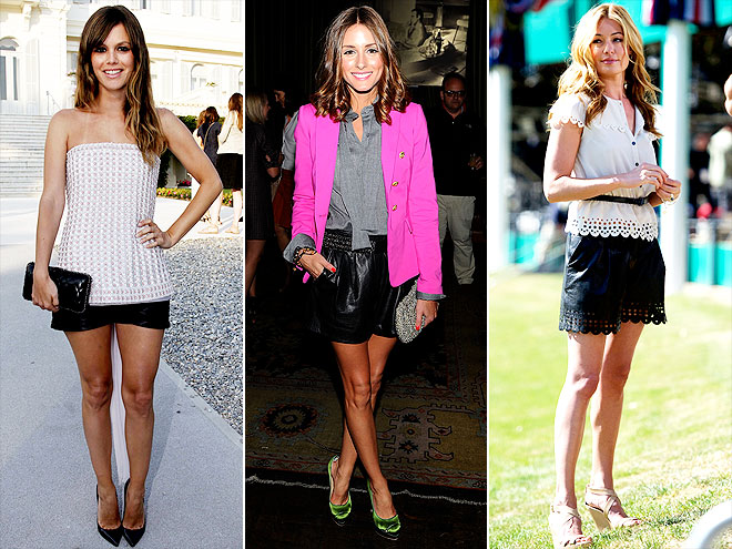LEATHER SHORTS photo | Cat Deeley, Olivia Palermo, Rachel Bilson
