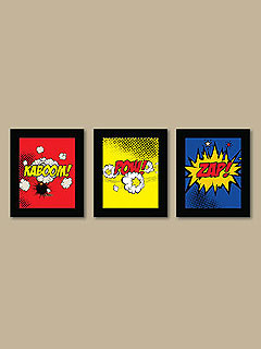 Etsy Superhero Wall Prints