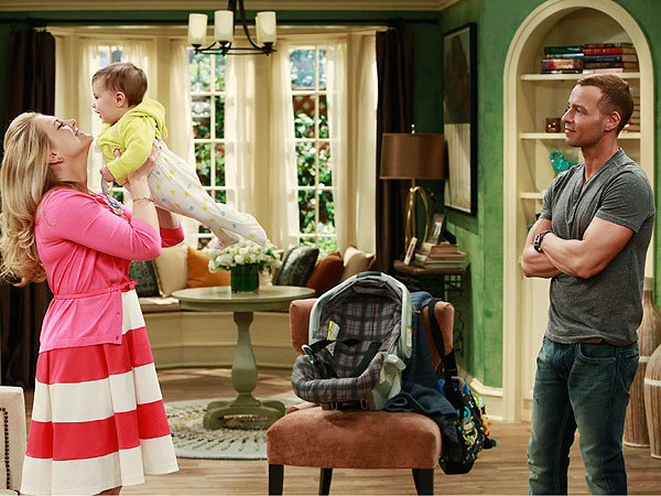 Melissa Joan Hart and Son Tucker On Set of Melissa & Joey