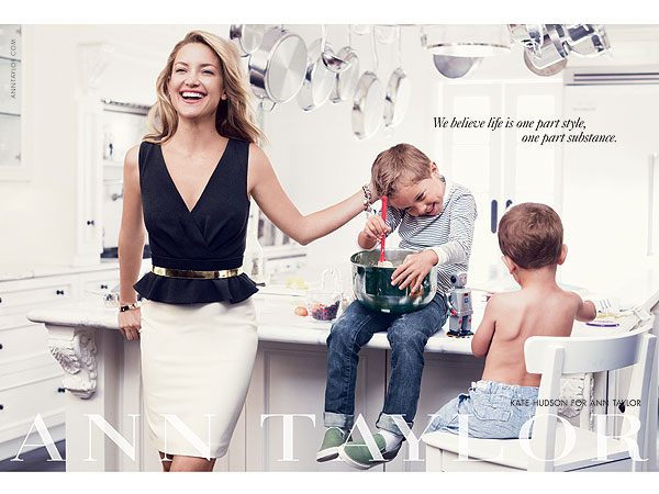 Kate Hudson Ann Taylor Ads Nephews Oliver Hudson