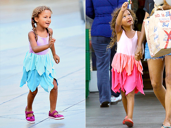 Nahla Aubry in Lemon Loves Lime Fairy Petals Dress