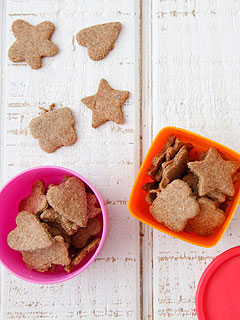 Weelicious Wheat Germ Parmesan Crackers