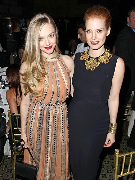 TOASTS OF THE TOWN photo | Amanda Seyfried, Jessica Chastain