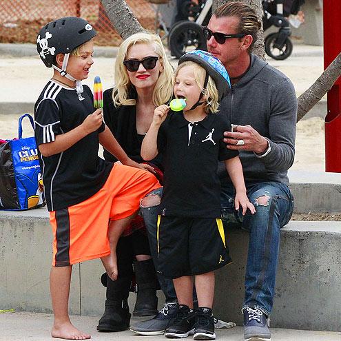 FAMILY FUN DAY photo   Gavin Rossdale, Gwen Stefani