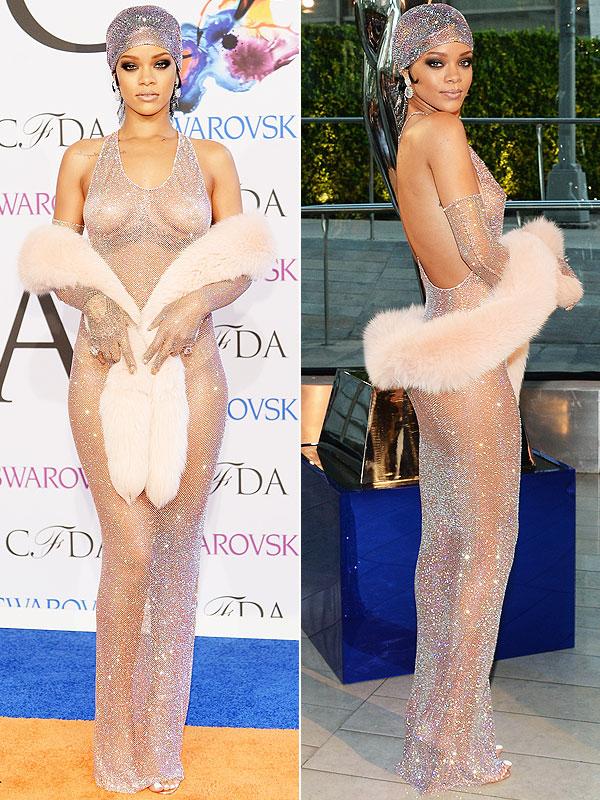Rihanna naked CFDA Awards