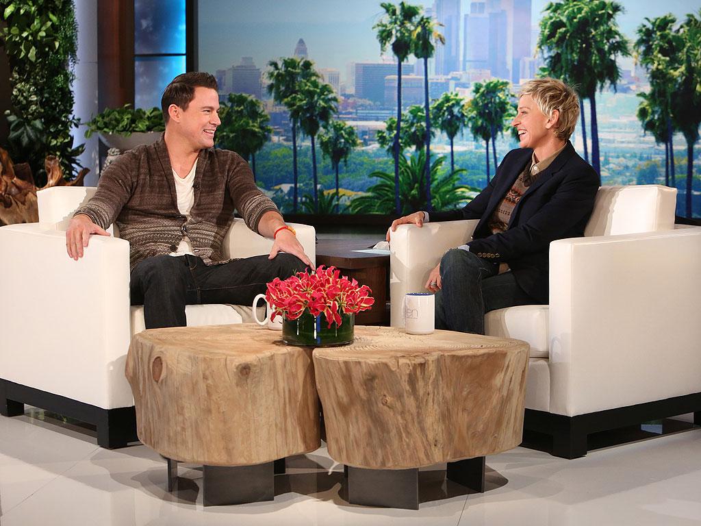 Channing Tatum y Ellen DeGeneres