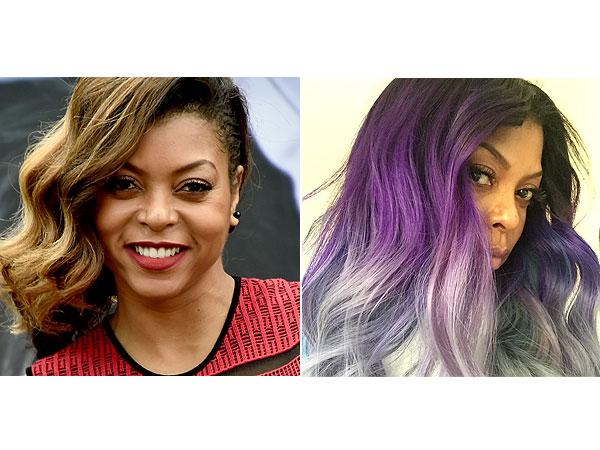Taraji P. Henson purple hair