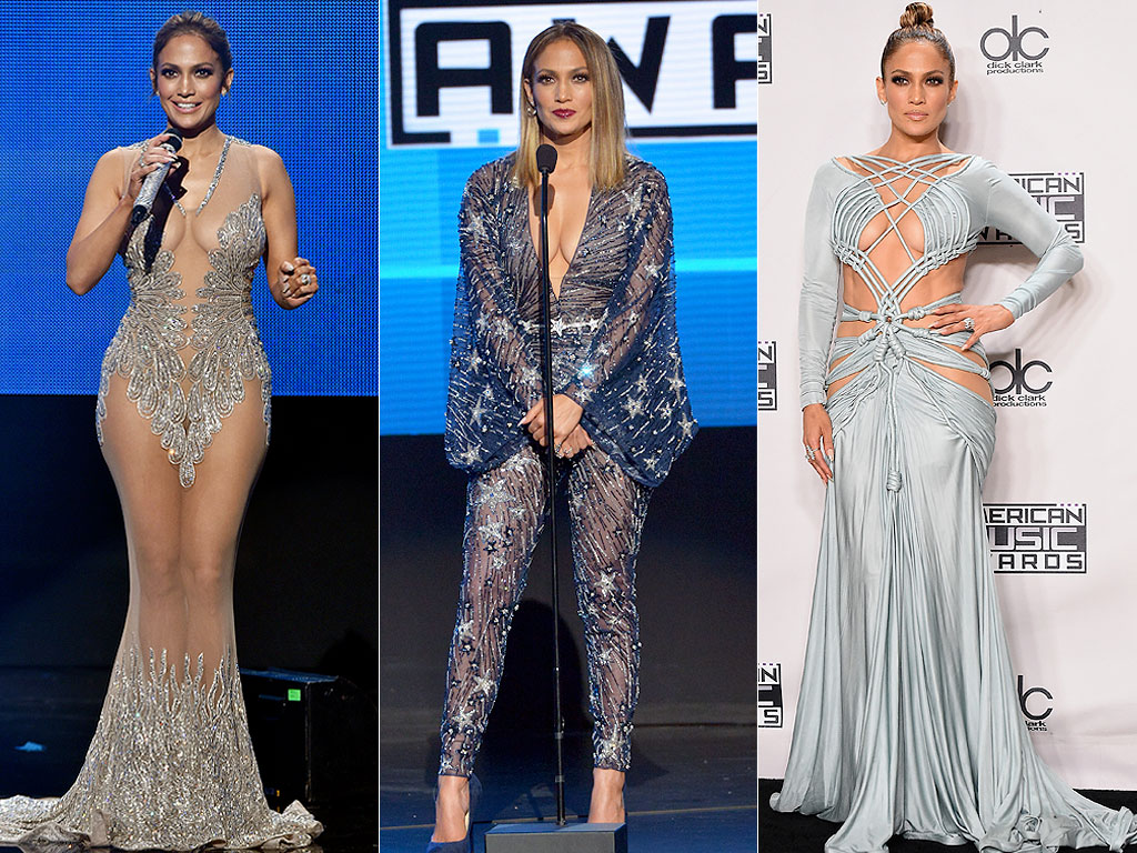 Jennifer Lopez AMAs outfits