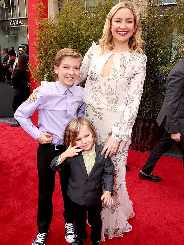 Kate Hudson with sons Bingham and Ryder