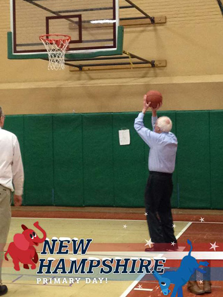 Bernie Sanders Crushes Hillary Clinton in New Hampshire Primary, Celebrates by Shooting Hoops with His Grandkids| 2016 Presidential Elections, politics, Hillary Rodham Clinton