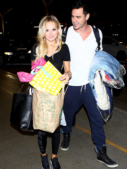 Ben Higgins and Fiancée Lauren Bushnell Can't Resist Showing Some PDA Before Jetting Off to N.Y.C.| The Bachelor, TV News, Ben Higgins