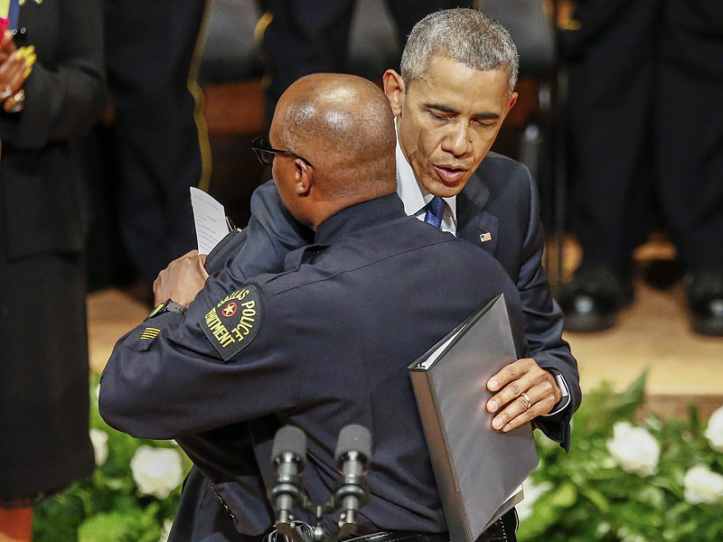 President Obama and President Bush Together Mourn Slain Dallas Police Officers: 'We Are Not as Divided as We Seem'| Shootings, politics, Barack Obama, George W. Bush, Joe Biden, Michelle Obama