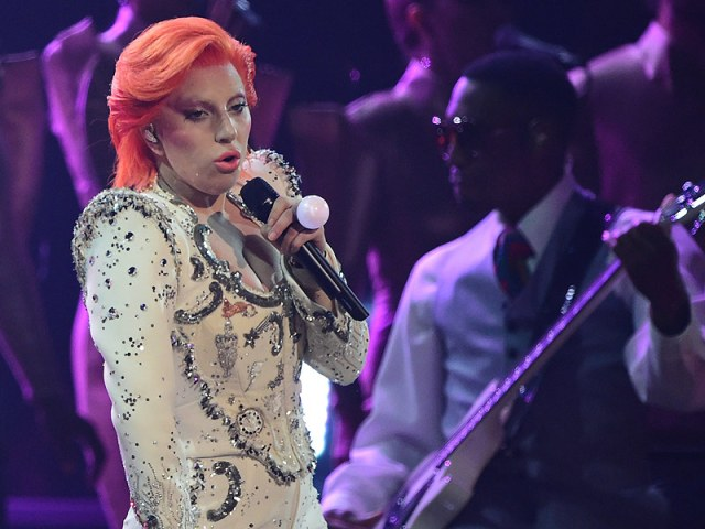 Lady Gaga Hits High Note in Electric Grammys Tribute to David Bowie| Grammy Awards 2016, News Franchises, Individual Class, David Bowie
